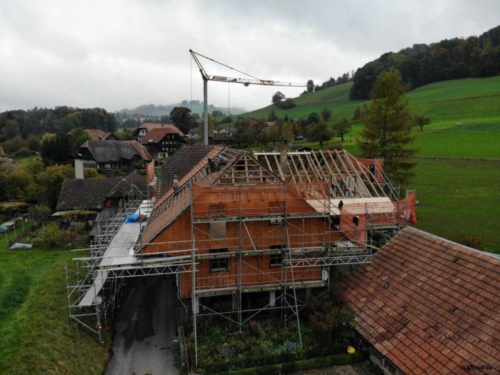 Dachsanierung 2 Mühli Vechigen